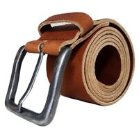 Leather Mens Belt Belts Strap 100% Genuine Full Grain Real Brown TOP BRAND