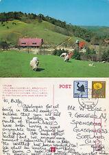 1993 FARM ON MOUNT ROKKO KOBE JAPAN COLOUR POSTCARD POSTED IN JAPAN