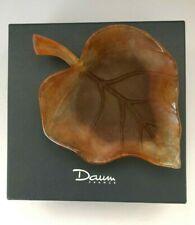 """Daum Pâte De Verre """"FEUILL PETIT MODELE HERBIER"""" Leaf Tray Bowl"""