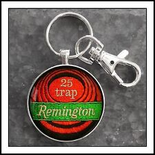 Remington Rifle Trap Shooting Shoulder Patch Photo Keychain