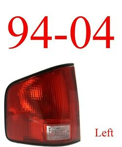 94 04 S10 Left Tail Light Assembly, Chevy, GMC, Isuzu, W/Black Trim GM2800124