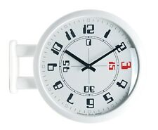 Modern Art Design Double Sided Wall Clock Station Clock Home Decor - MA4White