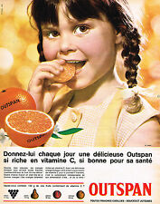 PUBLICITE ADVERTISING 114  1964  OUTSPAN oranges riches en vitamine C