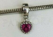 Authentic Pandora Charm Forever Heart 790471en07 Dangle Suede Pouch