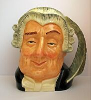 """Large ROYAL DOULTON Character Toby Mug """"The Lawyer"""" D6498"""