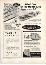 1962 PAPER AD Guillow's Store Display Flying Airplane Model Kits Balsa Wood