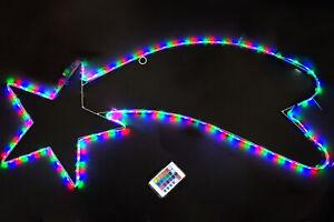 Stella Cometa Luminosa di Natale 162 LED Multicolor 96cm Esterno Giochi di Luce