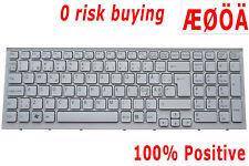 For Sony Vaio VPC-EB2E1E VPC-EB2Z1E VPC-EB4M1E Keyboard Nordic Swedish DK White