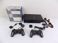 Ps2 Playstation 2 Bundle Fat Console + 2x Controllers + 15x Very Popular Games