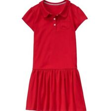Gymboree Play Proof Uniforms Red Polo Dress NWT Size 4 School