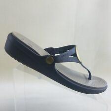 Crocs Sanrah Wedge Flip-Flop (Women's) Brown Size 11 M # D46