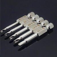 5 pezzi Set punte cacciavite a punte triple S2 acciaio 1/4 di pollice con g K4B4