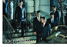 PUBLICITE ADVERTISING 025  2008  DOCE & GABBANA  haute couture homme ( 2 pages)