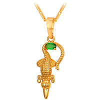 Special Alligator Design 18K Gold Plated Animal Pendant Necklace AAA+ CZ Jewelry