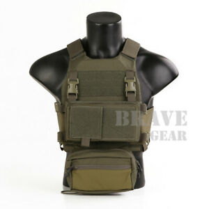 Emerson Low Vis Slick Plate Carrier Tactical Vest w/MK Micro Fight Chest Rig Set