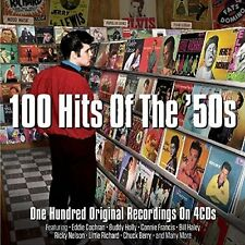 100 Hits of the 50s 1950s 4 CD Set Eddie Cochran Elvis Presley Chuck Berry +more
