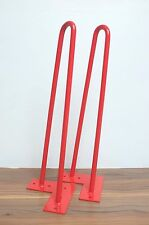 """Retro Hairpin Legs! Set of 4 Red, 16"""" Colour"""