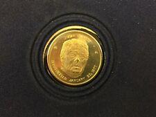 10 KT GOLD 1977 JIMMIE CARTER PRESIDENTIAL INAUGURAL MEDAL 2.92 Grams SEALED