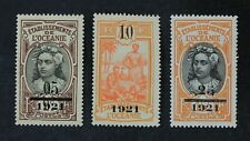 CKStamps: France Stamps Collection French Polynesia Scott#57-59 H OG #57 Crease