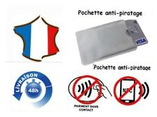 PROTECTION CARTE BANCAIRE SANS CONTACT RFID ÉTUIS  ANTI PIRATAGE x 2 Étuis