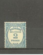 "FRANCE STAMP TIMBRE TAXE N° 61 "" 2F BLEU "" NEUF xx TTB"