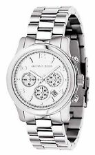 Michael Kors Mid-Size Runway Women's Chronograph Watch Steel Date MK5076 NEW