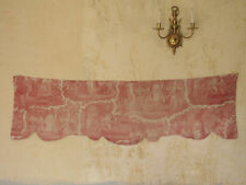 Antique French toile valance pelmet textile c1820 pink