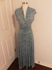 Maeve By Anthropologie Blue Wrap Dress High Low Hem Size Medium New NWT