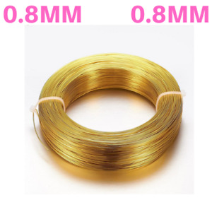0.8mm 20 gauge Aluminium Craft Florist Wire Jewellery Making Gold 10metres