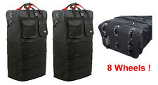 "2 pcs of 8-Wheel 36"" Black Rolling Wheeled Duffle Bag Spinner Suitcase Luggage"
