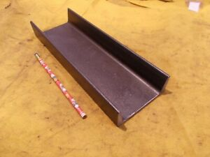 "4"" STEEL CHANNEL A-36 welding shop stock fab 5.4 lbs per foot  1 1/2"" x 4"" x 12"""