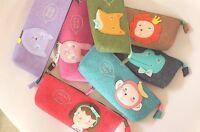 Cute Felt Animal pencil case bag coin pouch make up purse Pen holder UK