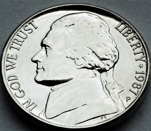 1987  Jefferson Nickel from OBW roll