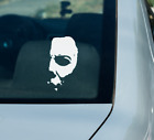 Michael Myers Half Face Mask from Halloween Scary Vinyl Decal Sticker