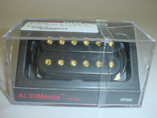 DIMARZIO DP202 Al DiMeola Bridge Guitar Pickup BLACK REGULAR SPACING GOLD POLES