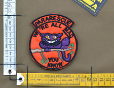 """Ricamata / Embroidered Patch """"Pararescue We're All Mad"""" with VELCRO® brand hook"""
