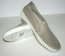 Skechers Air Cooled Memory Foam Casual Slip On Womens Perforated Suede Size 6.5