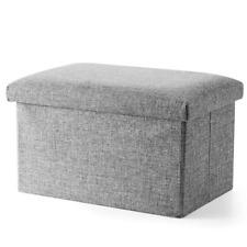 Inoutdoorkit FS-LN01 Linen Folding Organizer Storage Ottoman Bench Cube Foot Sto