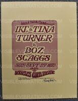 Ike & Tina Turner Concert Uncut Poster Randy Tuten Signed Berkeley 1970
