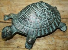 Cast Iron Antique Style Nautical TURTLE Statue Garden Pond Pool Doorstop GREEN