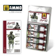 Ammo by Mig Acrylic Colours Paint Set - Russian Flora Uniforms Set A.MIG-7031