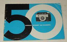 Instructions Booklet KODAK Signet 50 Camera - MODE D'EMPLOI 36 pages en anglais