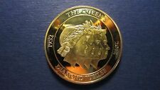 Medal United Kingdom The Queen Diamond Jubilee Gold Plated 50 mm from 2012 (L82)