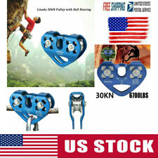 New Climbing Rock 30kN Heavy Duty Zip Line Cable Trolley Fast Speed Pulley USA