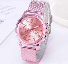 Women's Fashion Geneva Colourful Casual Watch Mesh Strap Quartz Wrist Watches