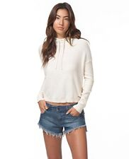 NEW RIP CURL BACKROADS PULLOVER IVORY HOODIE SMALL 100% COTTON QQ76 RP$64.50