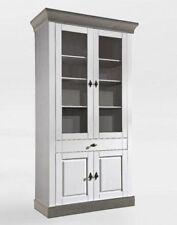 Möbel Weiß Hochglanz 44979638 #14329 Vitrine Standvitrine Vitrinenschrank  85cm Weiß