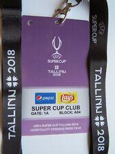 Collector VIP ticket pass Tallinn UEFA Super Cup 2018 Real vs. Atlético Madrid
