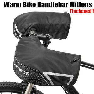 Rockbros Winter Warm MTB Bicycle Handlebar Mittens Mountain Bike Cycling Gloves