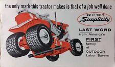 Simplicity Color 1964 Brochure Landlord Broadmoor Lawn Garden Tractor Catalog